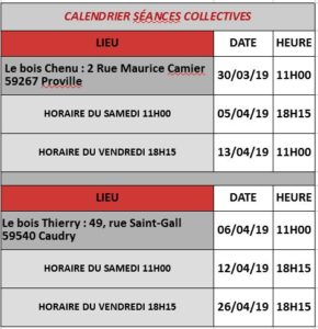 CALENDRIER COLLECTIVES